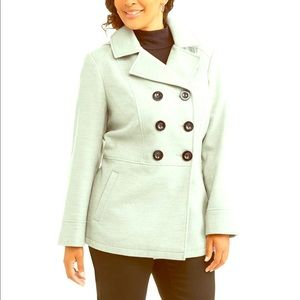 PS Double-Breasted Faux Wool Peacoat With Hood